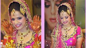 indian bride makeup fuchsia and purple look