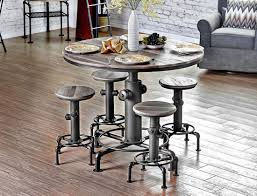 industrial style outdoor furniture. Fire Hydrant Industrial Pub Table Set Style Outdoor Furniture L
