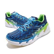 Details About Hoka One One Vanquish 3 Blue Green White Mens Running Shoes 1014791 Babp