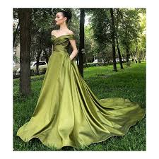 Image result for olive green gown