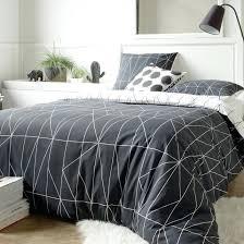 white patterned duvet cover shapes reversible patterned duvet cover white print black la blue and white