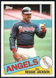 1985 Topps Baseball #200 Reggie Jackson ...