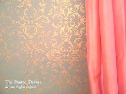 rose gold paint for walls gold painted wall stencil walls rose gold paint gold sponge painted