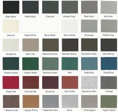 Standing Seam Roof Color Chart Hidden Fastener Metal Roofing Panels Factory Direct Metal
