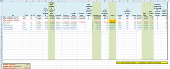 Excel Payment Tracker Template How To Schedule Editing And Proofreading Projects And