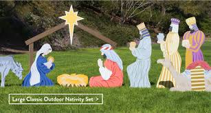 lighted nativity scene f27 on simple collection with vintage outdoor nativity nurse local