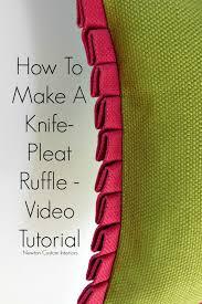 knife pleat ruffle