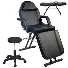 massage table and chair. Picture Of Massage Table Facial Bed Chair Adjustable Barber Beauty Salon Black And