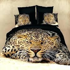 tiger comforter sets visual bedding set cotton leopard panda horse oil printed unique animal for bed printed bedding set tiger