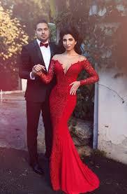 <b>Red Mermaid Prom</b> Dresses - June Bridals