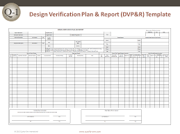Method Of Procedure Template Mesmerizing DVPR Design Verification Plan And Report QualityOne