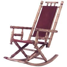 late 19th or early 20th century american faux bamboo rocking chair for