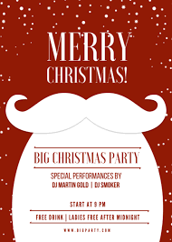 Merry Christmas Flyer Thats Red And White Free Template Flyer