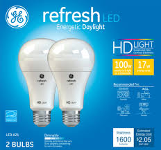 Light Bulb 100w Equivalent Details About Ge Refresh Hd 1600 Lumen 17w Dimmable A21 Led Light Bulb 100w Equivalent