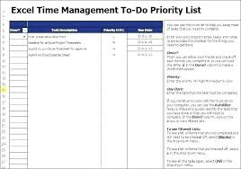 Priority List Templates Prioritized To Do List Template Priority Excel Task Priority