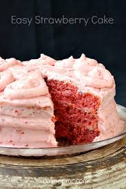 Easy Strawberry Cake Call Me Pmc