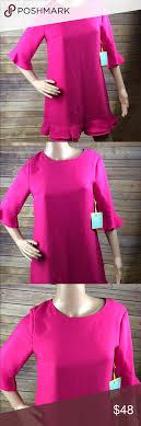 Cece By Cynthia Steffe Kate Ruffle Shift Dress Brand New