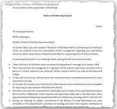 sle written warning letter for