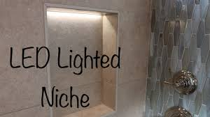 Niche Lighting Ideas How To Make A Lighted Led Tile Niche