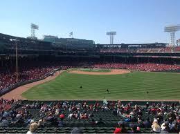 Fenway Park Section Bleacher 42 Row 50 Seat 13 Boston