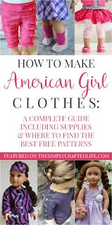 American Girl Clothes Patterns Adorable How To Make American Girl Doll Clothes A Guide To Free AG Doll Patterns
