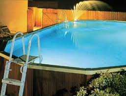 Ground Pool Fountain With Lights