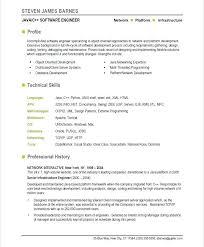 Resume Format Software Engineer Software Resume Template Australian