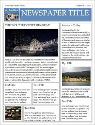 Microsoft Newspaper Template Free Free Newspaper Template For Word You Can Make Your Own