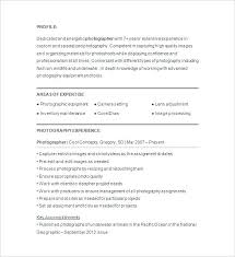 Freelance Photographer Resume Extraordinary Resume For Photographer Mkma