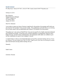 Accounting Cover Letters Coverletters And Resume Templates