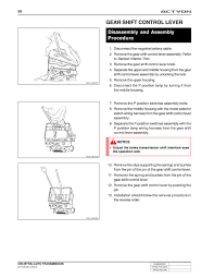pdfimage php5 file books car ssangyong actyon actyonb0105005 pdf pagenum 1 scale 506 rotate 0 gear shift control lever disassembly and assembly procedure disconnect the negative battery cable