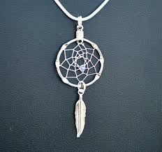 Small Dream Catcher Necklace Unique Small Dreamcatcher Silver Necklace With Purple Bead And Etsy
