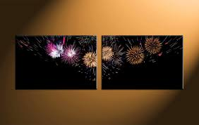 black art canvas paintings elegant 2 piece black canvas city fireworks wall art