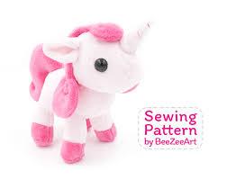 Plush Pattern Enchanting Unicorn Plush Sewing Pattern Stuffed Animal Pattern PDF File
