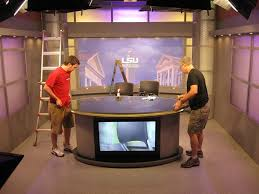tv studio furniture.  Studio LSU Tv Set Design Broadcast Furniture Installation Inside Tv Studio Furniture T