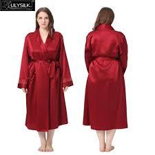 plus size silk robe 2018 wholesale lilysilk 100 pure silk robe women plus size 22 momme