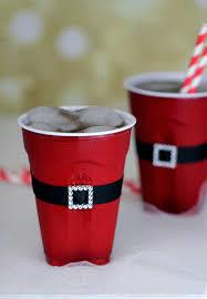 santa s belt on plastic cups