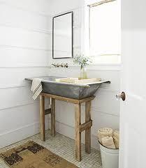diy galvanized metal tub farmhouse sink