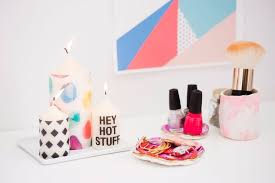room decor diy ideas. 19. Easy Patterned Candles Room Decor Diy Ideas