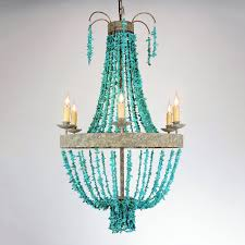 turquoise chandelier lighting. 6 Light Lockon Turquoise Chandelier Lighting
