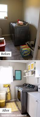 Easy Laundry Room Makeovers Awesome Before And After Laundry Room Makeovers O Awesomejellycom