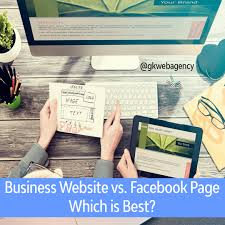 Web Design Company Facebook Page Business Website Vs Facebook Page Gk Web Agency Best