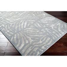 hand tufted grey zebra animal print wool area rug and cream