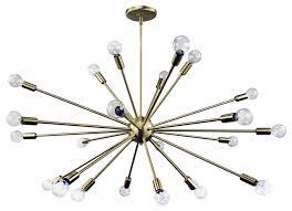 sputnik chandelier satin brass