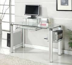 contemporary glass computer desk modern glass computer desk contemporary metal glass computer desk