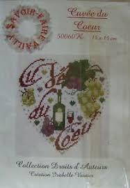 Isabelle Vautier Free Charts Details About Isabelle Vautier Cuvee Du Coeur Savoir Faire Vailly Heart Wine Cross Stitch