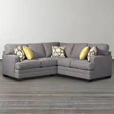 ... L Shaped Sectional Sofa Grey Colored Sofas Five Pillows Softly Design  And Modern Style For Family ...