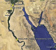 Aerial images you can fly over wonderful places of the earth, like a bird. Map Of Egypt From Googleearth The Sites Are Pined In The Map Download Scientific Diagram