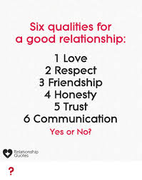 Quotes About Honesty In Friendship Cool Six Qualities For A Good Relafionship 48 Love 48 Respect 48 Friendship