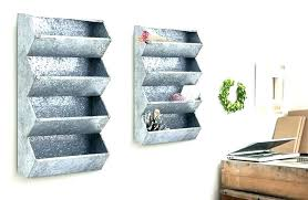 metal wall pocket galvanized wall organizer metal wall organizer metal wall particular rustic style metal wall